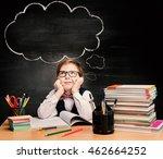 kids education  child boy study ... | Shutterstock . vector #462664252