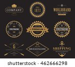 retro or vintage  old banners... | Shutterstock .eps vector #462666298