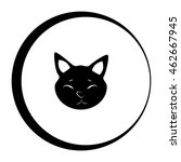 cat vector icon and animal... | Shutterstock .eps vector #462667945