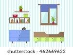 kids room interior. nursery in... | Shutterstock .eps vector #462669622
