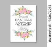 wedding invitation or card with ... | Shutterstock .eps vector #462671098