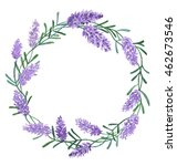 beautiful lavender wreath... | Shutterstock . vector #462673546
