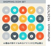 shopping icon set. multicolored ...