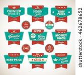 vintage labels set. vector... | Shutterstock .eps vector #462678652