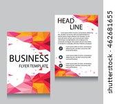 vector brochure flyer design... | Shutterstock .eps vector #462681655