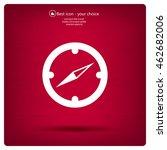compass flat icon. vector... | Shutterstock .eps vector #462682006