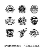 vintage label thank you text... | Shutterstock .eps vector #462686266