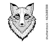 textured stylized fox. | Shutterstock .eps vector #462688588