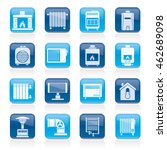 home heating appliances icons   ... | Shutterstock .eps vector #462689098