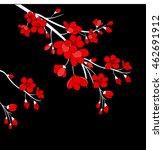 festive illustrations. branch... | Shutterstock .eps vector #462691912