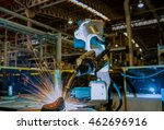 robot training test new welding ... | Shutterstock . vector #462696916