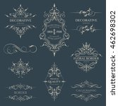 set of decorative borders and...   Shutterstock .eps vector #462698302