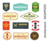 vintage barbershop logo  ... | Shutterstock .eps vector #462699202