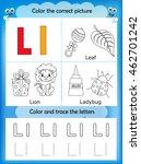 alphabet learning letters  ... | Shutterstock .eps vector #462701242