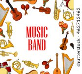 musical instruments banner with ... | Shutterstock .eps vector #462712462