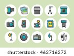camera and photo icons set   Shutterstock .eps vector #462716272