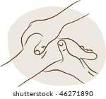 woman having reflex foot massage | Shutterstock .eps vector #46271890