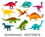 dinosaurs cartoon collection.... | Shutterstock .eps vector #462720676