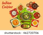indian cuisine original dishes... | Shutterstock .eps vector #462720706