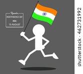 independence day cartoon... | Shutterstock .eps vector #462731992