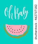 summer hand drawn calligraphic... | Shutterstock .eps vector #462737182