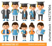 set of characters in flat style.... | Shutterstock .eps vector #462737806