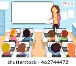 stickman illustration of... | Shutterstock .eps vector #462744472