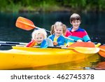 happy family with three kids... | Shutterstock . vector #462745378