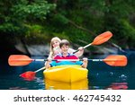 happy family with two kids... | Shutterstock . vector #462745432