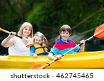 happy family with two kids... | Shutterstock . vector #462745465