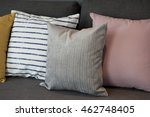 colorful pillows on a sofa  | Shutterstock . vector #462748405