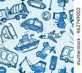 funny cars. kids seamless...   Shutterstock .eps vector #462749002