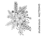 flower doodle drawing freehand... | Shutterstock .eps vector #462750445