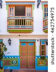 colorful house   guatape ... | Shutterstock . vector #462754975