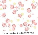 vector floral seamless pattern... | Shutterstock .eps vector #462762352