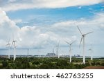pylon in substation blue sky... | Shutterstock . vector #462763255
