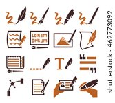 writing icon set | Shutterstock .eps vector #462773092