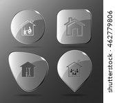 4 images  home work  workshop ... | Shutterstock .eps vector #462779806
