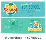two back to school sale banners. | Shutterstock .eps vector #462780322
