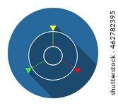 gps navigation icon flat design ...