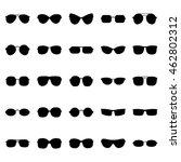 set of glasses and sunglasses ... | Shutterstock .eps vector #462802312