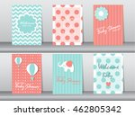 set of baby shower invitation... | Shutterstock .eps vector #462805342