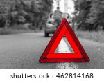 unhappy driver and broken car... | Shutterstock . vector #462814168