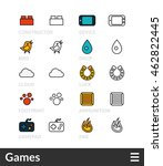 black and color outline icons ... | Shutterstock .eps vector #462822445