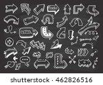set of arrow doodle on... | Shutterstock .eps vector #462826516