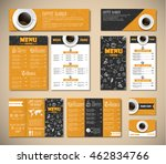 set of black and yellow... | Shutterstock .eps vector #462834766