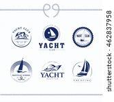 vector flat yacht club  regatta ... | Shutterstock .eps vector #462837958