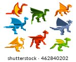 Flying Dragons Cartoon Flat...