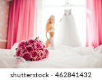 bouquet and the beautiful young ... | Shutterstock . vector #462841432