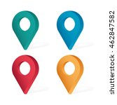 set color maping pin location... | Shutterstock .eps vector #462847582